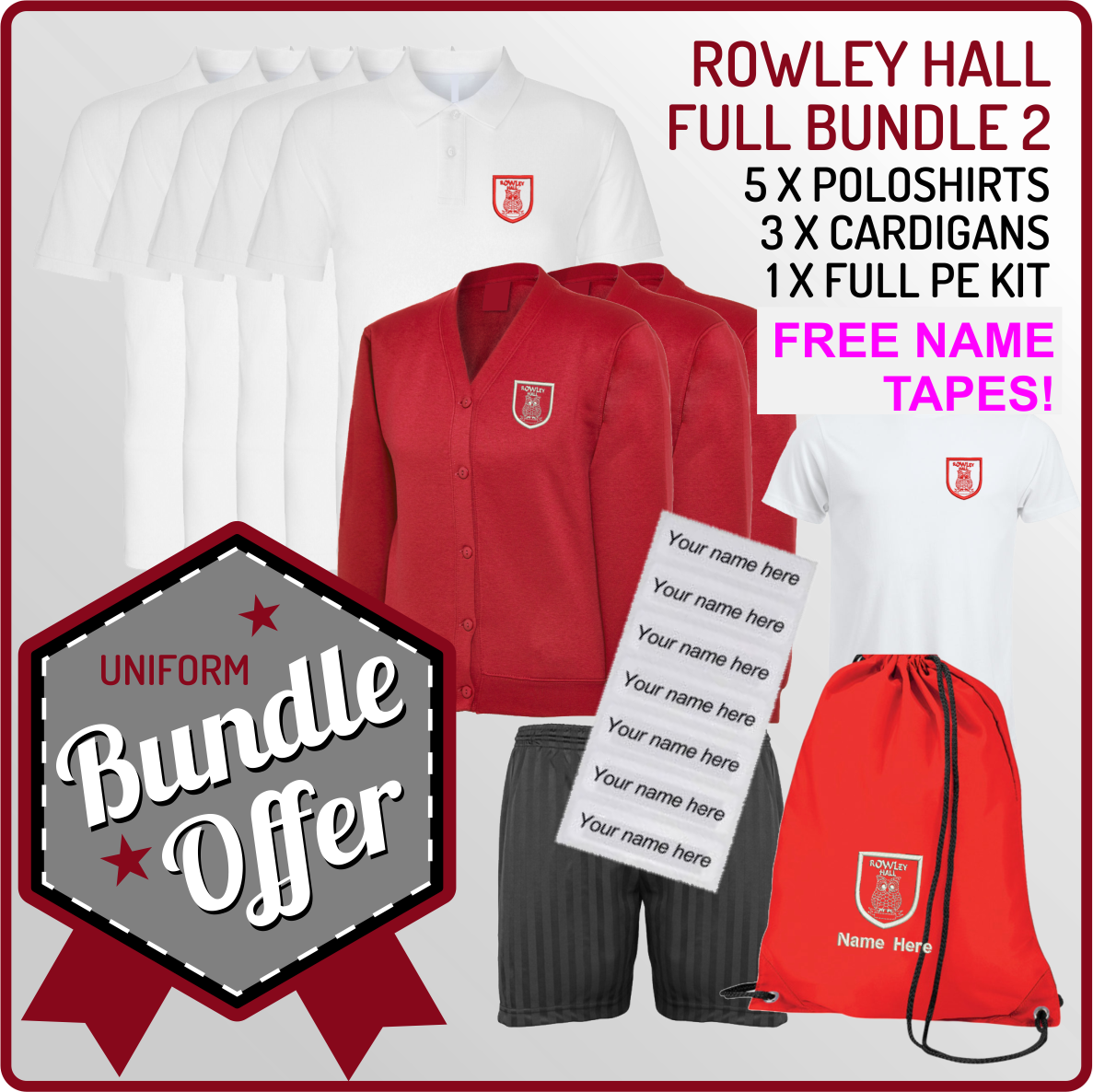Bundle offer of 3 Cardigans  & 3 Poloshirts